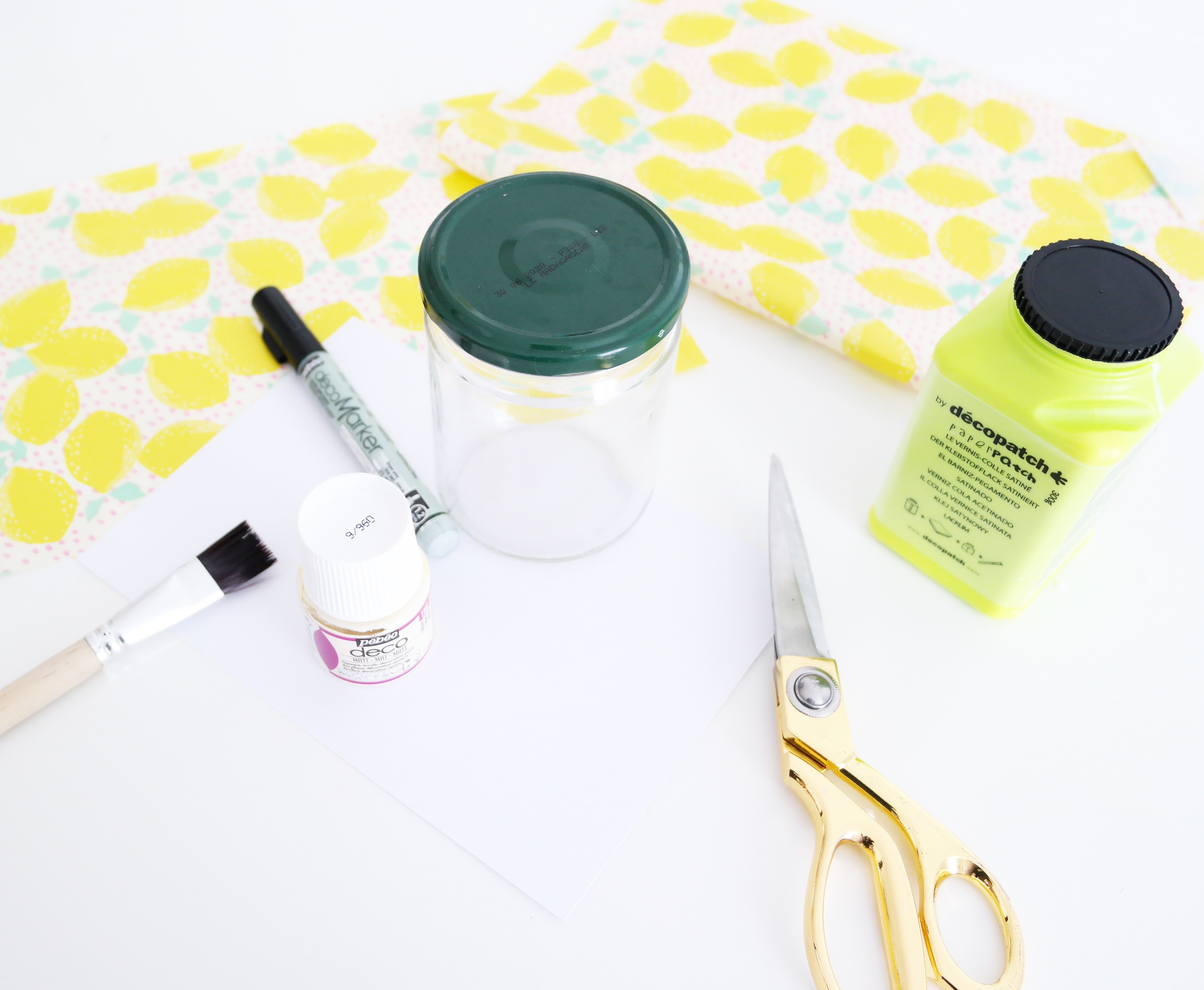 papier-decopatch-bocal-citron