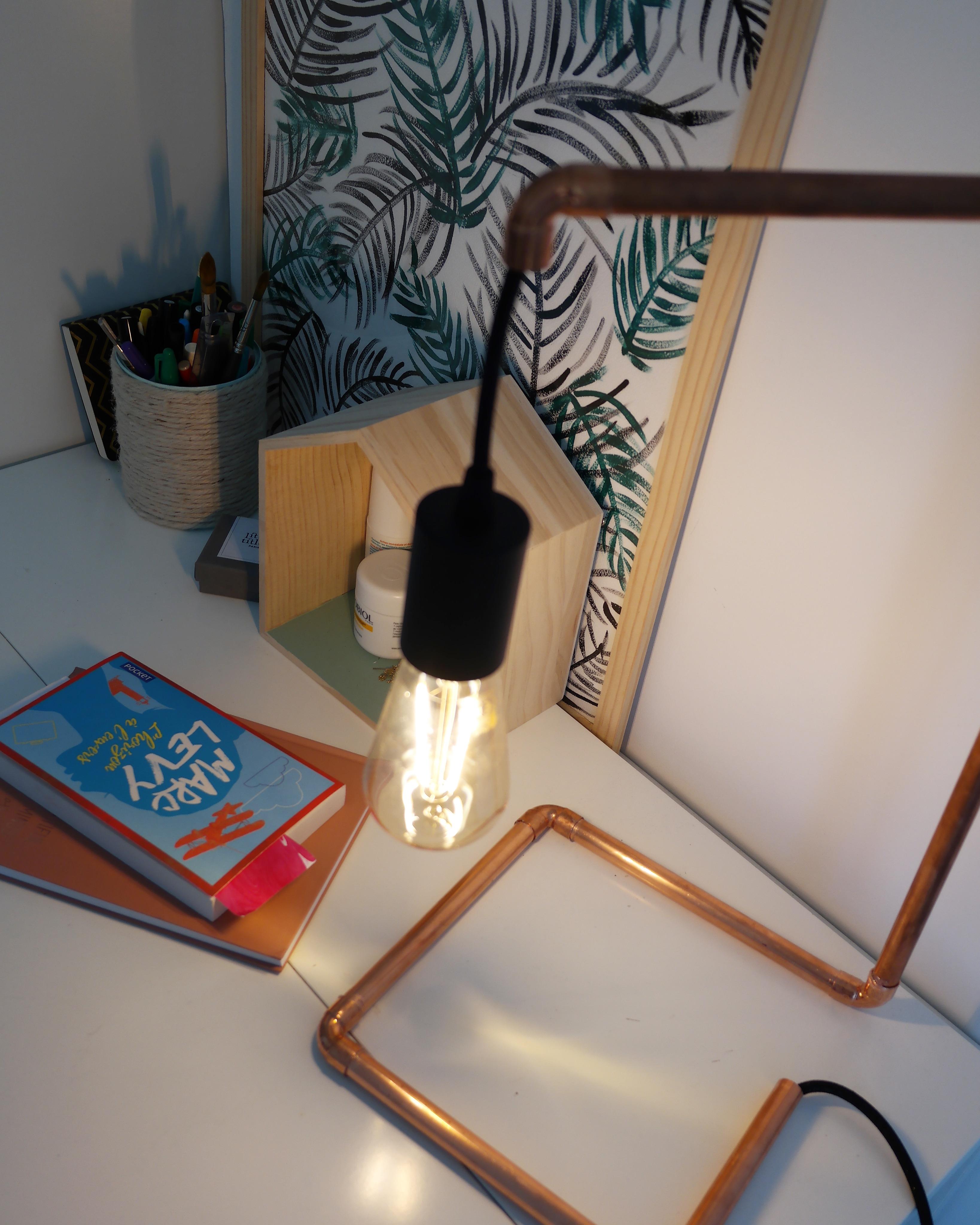 diy - une lampe en cuivre facile À rÉaliser - shylylovely