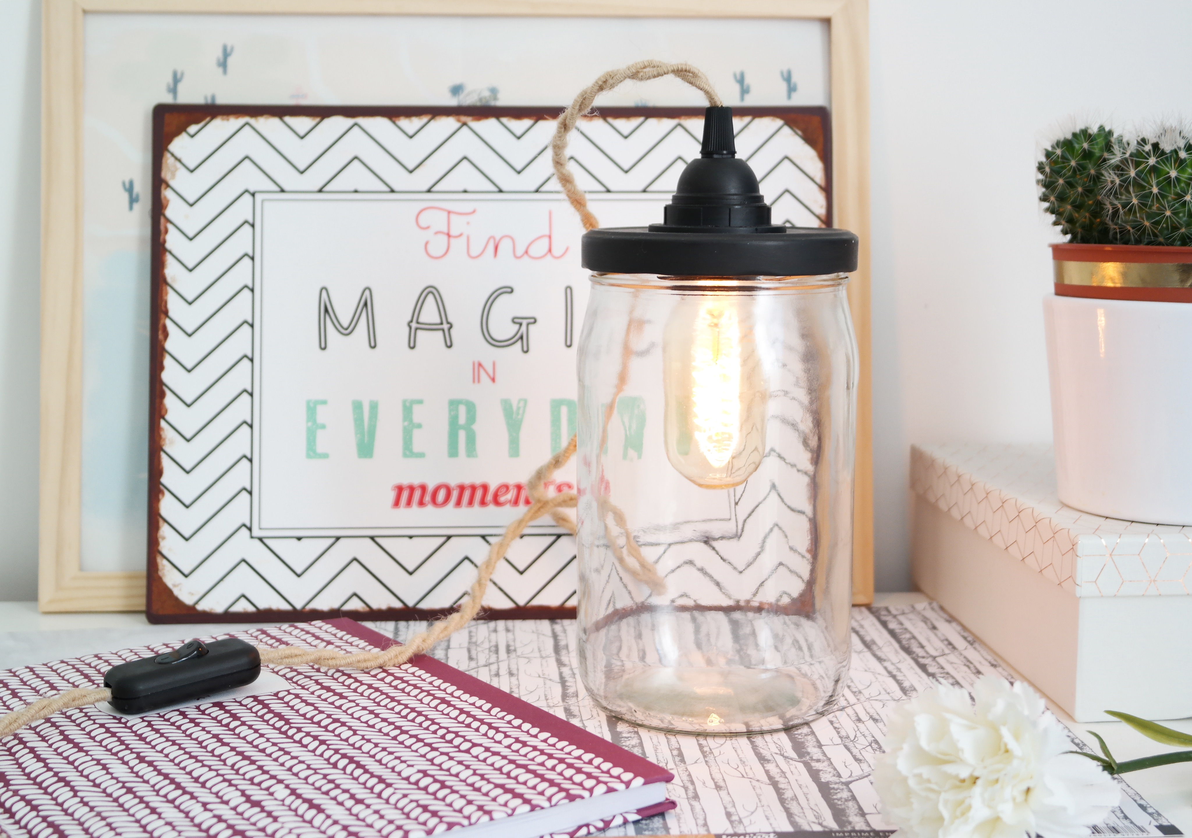 diy - une belle lampe bocal - shylylovely