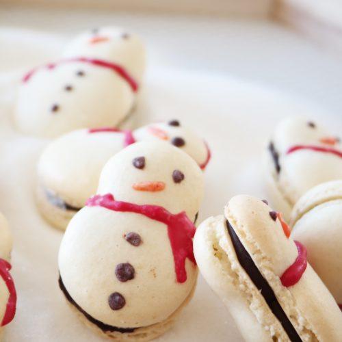bonhomme-de-neige-macaron