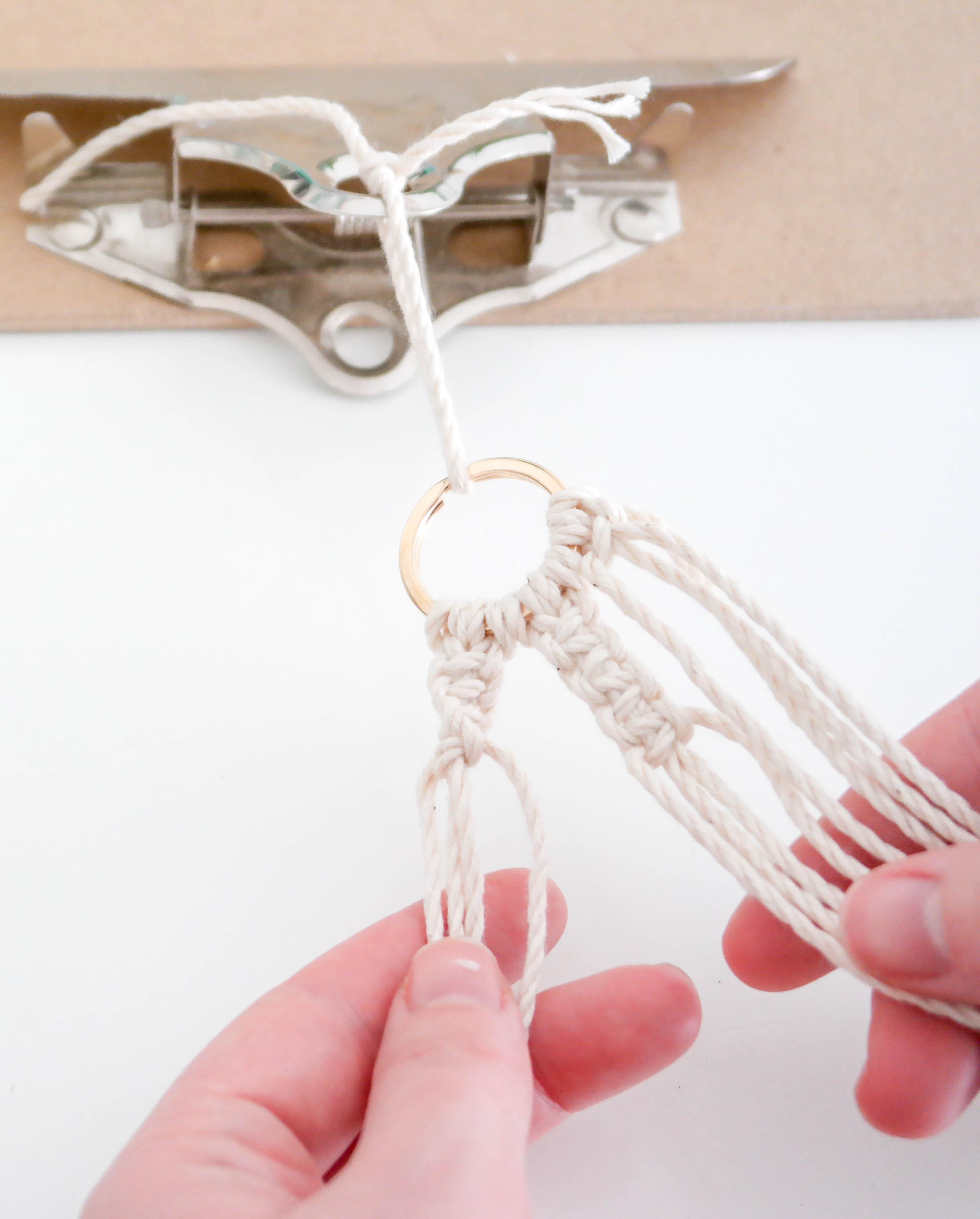 porte-clés-macramé