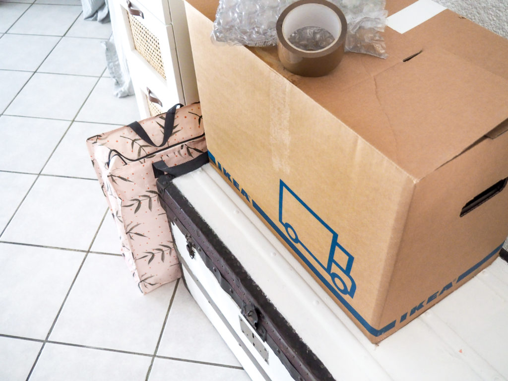déménagement carton sac