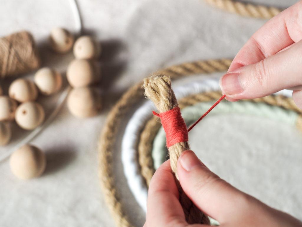 fil de coton enroulé