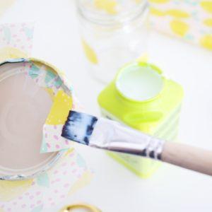 papier-decopatch-bocal-verre-citron