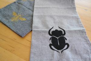 serviette-de-table-insectes-