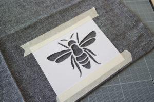 serviette-de-table-insectes-abeille