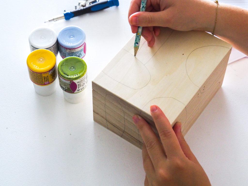 tracer des formes sur la boîte