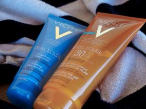 crèmes solaires et après soleil vichy