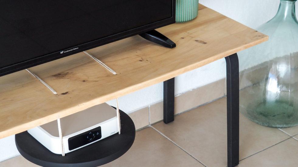 meuble tv diy tabouret frosta ikea