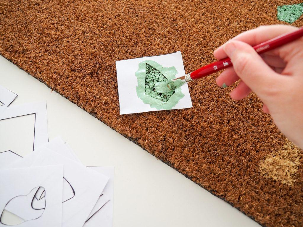 diy paillasson effet terrazzo peinture