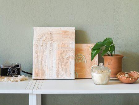 tableaux abstraits platre
